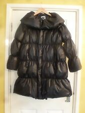 MISSONI BLACK GOOSEDOWN GOOSE DOWN PUFFA COAT PADDED COAT SIZE L
