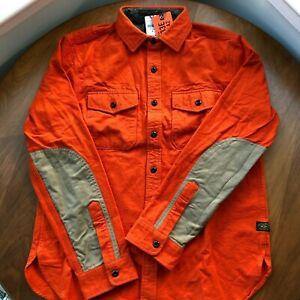 (Size M) L.L.Bean x Todd Snyder Chamois Shirt in Dark Terracotta Orange NWT