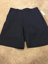 NEW Men's IZOD GOLF Shorts 32 NAVY Flat Front Classic Fit MSRP $50