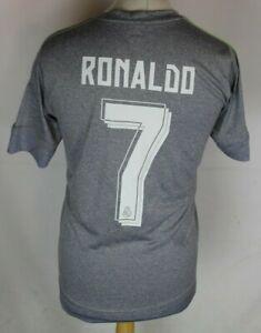 RONALDO #7 REAL MADRID AWAY FOOTBALL SHIRT 15-16 ADIDAS MENS SMALL RARE