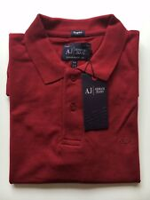 New Mans Armani Jeans Polo T Shirt Maroon Short Sleeve Size XL RRP £95.00