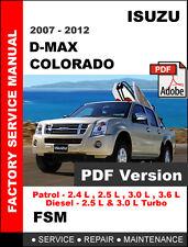 ISUZU DMAX D MAX D-MAX COLORADO 2007 - 2012 FACTORY SERVICE REPAIR FSM MANUAL