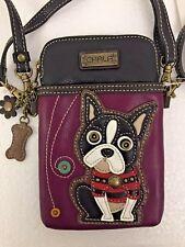 Chala Boston Terrier Dog Cell Phone Crossbody Bag Small Convertible Purse New
