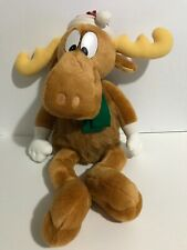 "Bullwinkle Macy'S Large 24"" Stuffed Christmas Moose Plush 1996 Rocky Vintage"