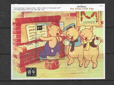 HICK GIRL- MINT ST. VINCENT SOUVENIR SHEET    DISNEY  THREE LITTLE PIGS      A1