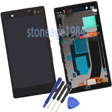 Full Black Frame+LCD display+touch screen For Sony Xperia Z LT36i LT36H C6603