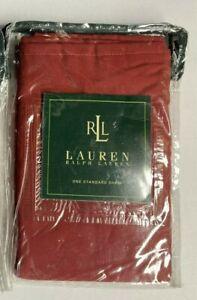NEW Ralph Lauren STANDARD Sham SOLID BARN RED Country Farmhouse