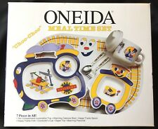 Vtg 1994 Oneida Melamine Choo Choo Train Meal Time Set Plate Bowl Cup Spoon Fork