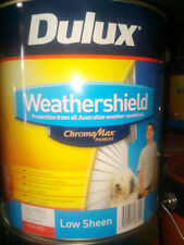 NEW Dulux Weathershield LOW SHEEN TRUE RED EXTERIOR 4 LITRE Can Freight