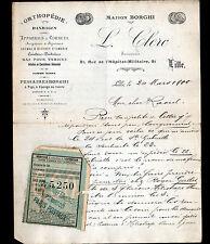 """LILLE (59) ORTHOPEDIE & MATERIEL MEDICAL """"BORGHI / Louis CLERC"""" en 1900"""