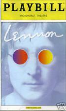 LENNON BROADWAY  PLAYBILL - TERRENCE MANN