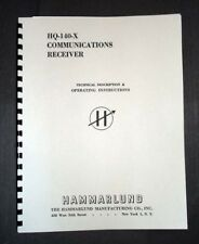 HAMMARLUND HQ-140-X Receiver manual