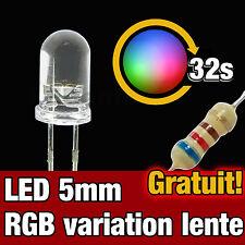 712/10# LED 5mm RGB variation automatique lent 10pcs - Slow RGB