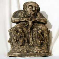 Ethiopie: Icone en Marbre Copte Orthodoxe Arte Religieuse Crucifixion de Jésus *