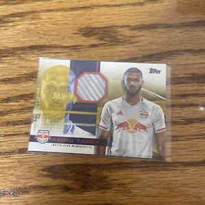 Amro Tarek 2020 Topps MLS Game Used Patch SP GOLD 36/50 - NEW YORK RED BULLS