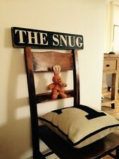 The Snug Sign Plaque Vintage Old Look Birthday Gift Kitchen Home Room Pub Hotel