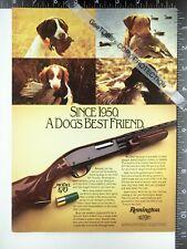 1984 Remington shotgun model 870 Black Labrador Irish Water Spaniel hunting ad
