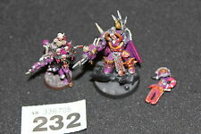 Games Workshop Warhammer 40k Chaos Terminator Lord and Banner Job Lot WH40K