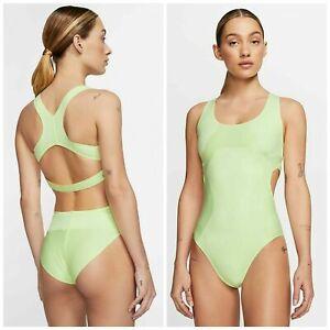 Women's NWT Nike City Ready Run Running Bodysuit Volt Tennis CQ4331-701 Size M