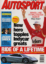 Autosport 22 Jul -  1993. German G P, Monaco F3 1975, Paul Tracy, McLaren F1,