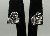 New Stylish Sterling Silver Earrings Flowers Stamped Solid 925 Handmade Empress