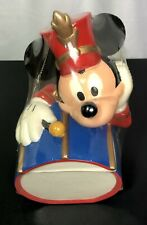Vintage Mickey Mouse Marching Band Drummer Cookie Jar Brand New In Plastic