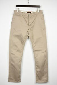NUDIE JEANS & CO. REGULAR DRY KHAKI Men's W34/L34 Buttons Chino Trousers 41608-E