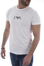 EMPORIO ARMANI White Signature Chest Logo T-Shirt Top Tee Size M BNWOT