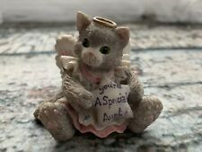 "Enesco Kitty Cat Angel Kitten holding Star Figurine ""You're A Special Aunt"" 1994"