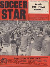 SOCCER STAR ~ 20 MAY 1966 FA CUP FINAL REVIEW EVERTON WINNERS / LUTON TEAM PHOTO