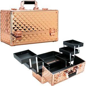 VER Beauty Cosmetic Makeup Case Organizer Travel Cosmetic Bag Trays Keylocks
