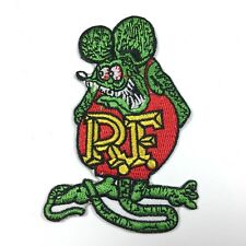 RAT FINK RF HOT ROD DRAG RACE ED BIG DADDY ROTH IRON ON EMBROIDERED PATCH