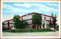 1930 Logansport, Indiana Postcard: High School - IN Ind