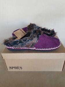 Apres by Lamo Women's Aurora Slippers in Plum Size Medium U.S. 6.5-7 New