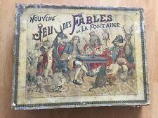 Vieux jeu de loto JEU DES FABLES DE LA FONTAINE