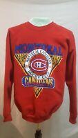 The Montreal Canadiens Vintage 1990 Sweatshirt 50/50 USA Made Mens XL EUC
