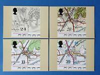 Set of 4 PHQ Stamp Postcard Set No.138 Bicentenary of Ordnance Survey 1991 BW1