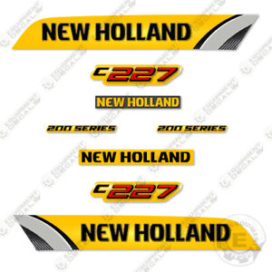 New Holland C227 Decal Kit Skid Steer Reproduction Equipment Decals - 3M VINYL!