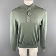 BRUNELLO CUCINELLI Size 40 Olive Cotton Buttoned Pullover Sweater