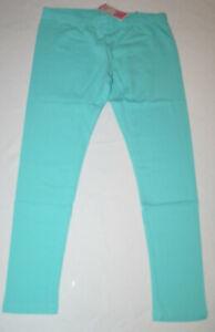 Girl's Circo Turquoise Blue Pull On Leggings Pants Sizes M (7/8), 2X (18)