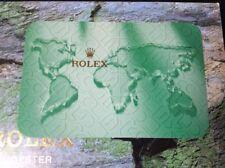 Rolex original calendar card 2004 / 2005 + free post
