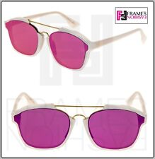 2c4de8228c CHRISTIAN DIOR ABSTRACT White Milk Pink Silver Flat Mirrored Sunglasses  Unisex