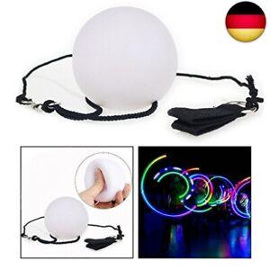 OFKPO 1 Paar LED Glow Poi,Mehrfarbige Nachtleuchtender Poi Leuchtpoi für Bühne B