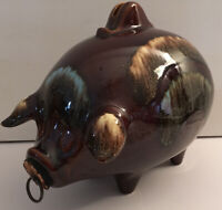 Hull USA Large Glossy 197 Piggy Bank Cork Nose Ring Vintage Mid Century Kitschy