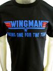 Top Gun Wingman funny party beer tee shirt men's black choose your size