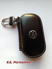 Portachiavi in cuoio NERO contenitivo Volkswagen Golf Jetta Passat Scirocco Polo