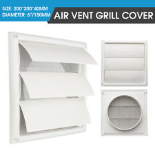 Gravity External Shutter Wall Air Vent Grille Grill Duct 6'' Exhaust Fan 200mm