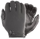 Damascus ATX5 Police Black Lycra & Leather Tactical Security Duty Airsoft Gloves
