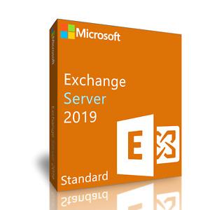 New Microsoft Exchange Server 2019 Standard, Multi-language with CU10 update.