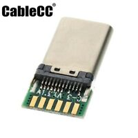 Cablecc 2pcs DIY 24pin USB 3.1 Type C USB-C Plug Connector SMT type with PCB